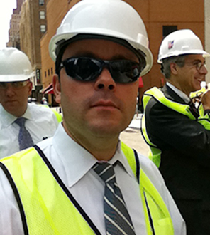 Carlos Manzano touring the 911 Memorial Center with Project Managers before it opened to the public.